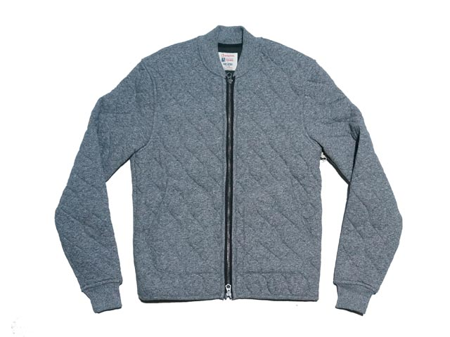 978d15fd47317 It is an appearance of Quilted Bomber Jacket in Heather Grey from Todd  Snyder + Champion!