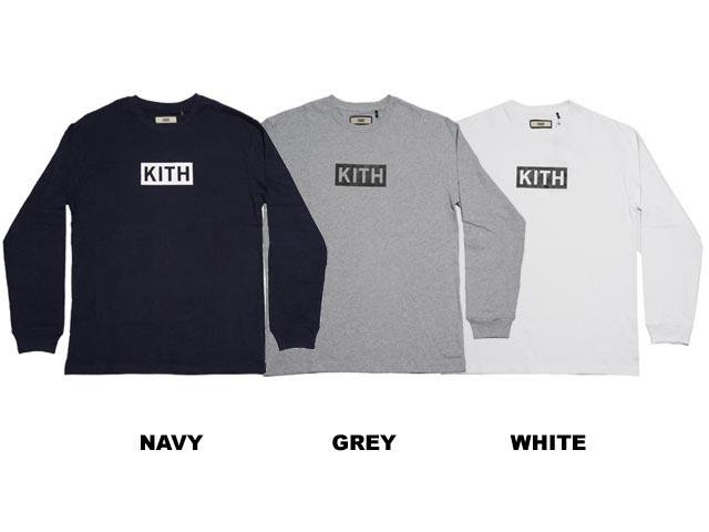 【送料無料!!】KITH  キス  Box Logo L/S Tee ボックス ロゴ ロングスリーブ  Tシャツ