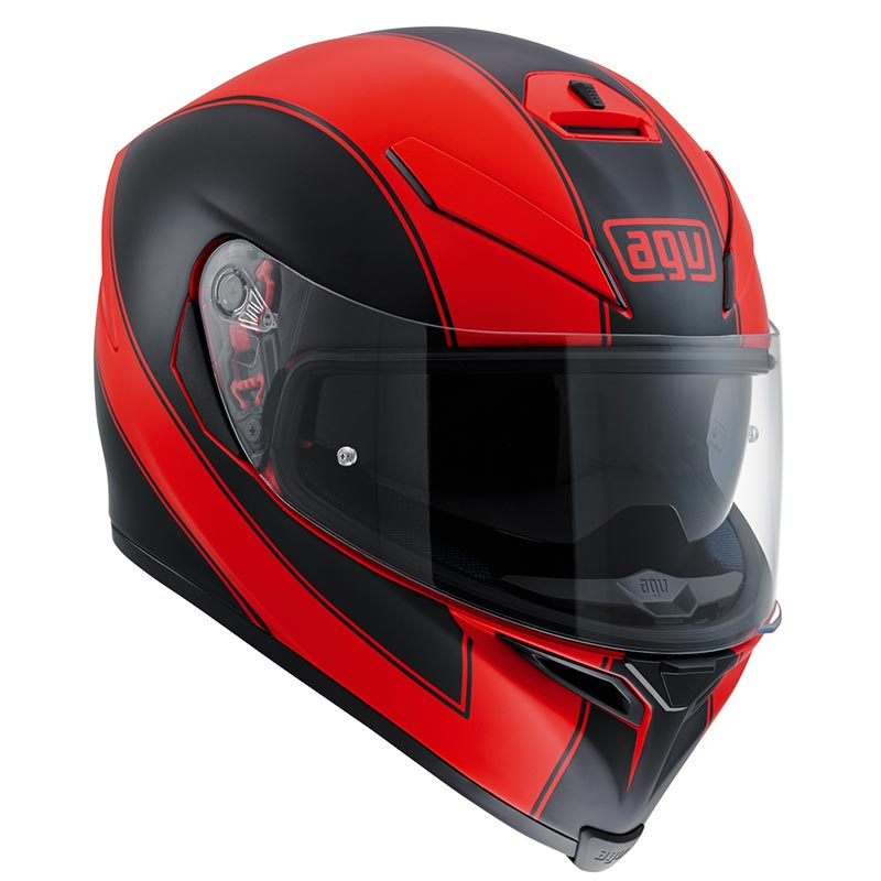 AGV(エージーブイ)フルフェイスヘルメットK-5 S 005-ENLACE RED MATT/BLACK
