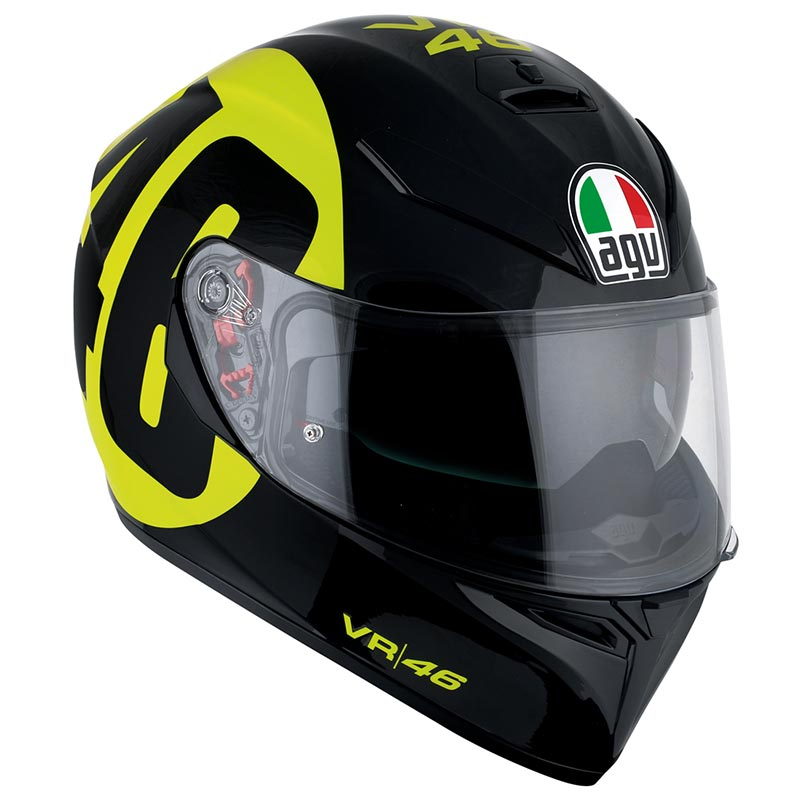 アジアンフィット仕様 サンバイザー装備 SG規格対応 公道走行可 AGV(エージーブイ)フルフェイスヘルメットK-3 SV 009-BOLLO 46 BLACK/YELLOW