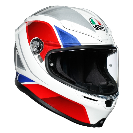 AGV K6 003-HYPHEN WT/RED/BLUE