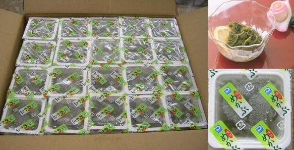 ミニカップ味付めかぶ 20g 100個×4箱