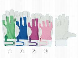 プロの信頼シモンの革手袋(皮手袋)です。 作業革手袋(皮手袋) 豚革手袋 シモン 甲メッシュマジック式 PL-129 (129豚白)