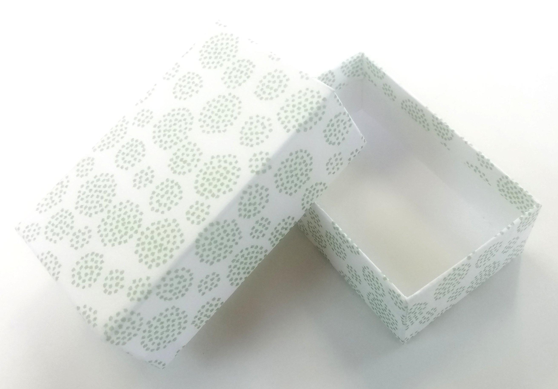 高さ 外寸 約33mm 名刺箱アクセサリー等 ついに入荷 小物入れ箱紙製 5個セット緑 緑花芯柄 交換無料 @220 グリーン