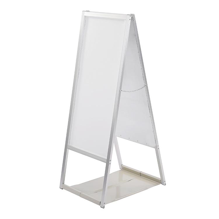 【訳あり】転倒防止板付スタンド看板 A型看板両面ホワイトボード スリム型46 店舗看板[WB-8453R]