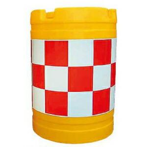 【安全興業】バンパードラム(PE製) KHB-2【赤白】※代引き不可商品※【K】