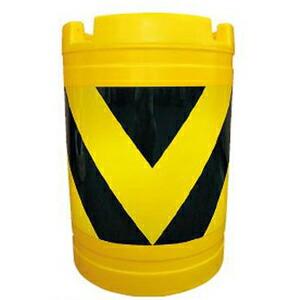 【安全興業】バンパードラム(PE製) KHB-3【黄黒】※代引き不可商品※【K】