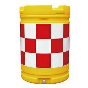 【安全興業】AZクッションドラム(PE製) AZC-001【赤白】※代引き不可商品※【K】