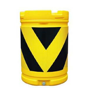 【安全興業】AZクッションドラム(PE製) AZC-002【黄黒】※代引き不可商品※【K】