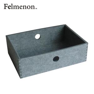 【送料無料】【フェルメノン】HOZO BOX(S) グレー 5個セット 【フェルト 収納 雑貨】【代引不可】【LI】