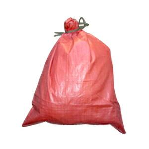 【土のう袋】 カラー強力土のう袋 赤 100枚 【MK】