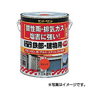【サンデーペイント】スーパー油性 鉄部・建物用 1.6L 白 1ケース(4個入り) ※代引き不可商品※【K】