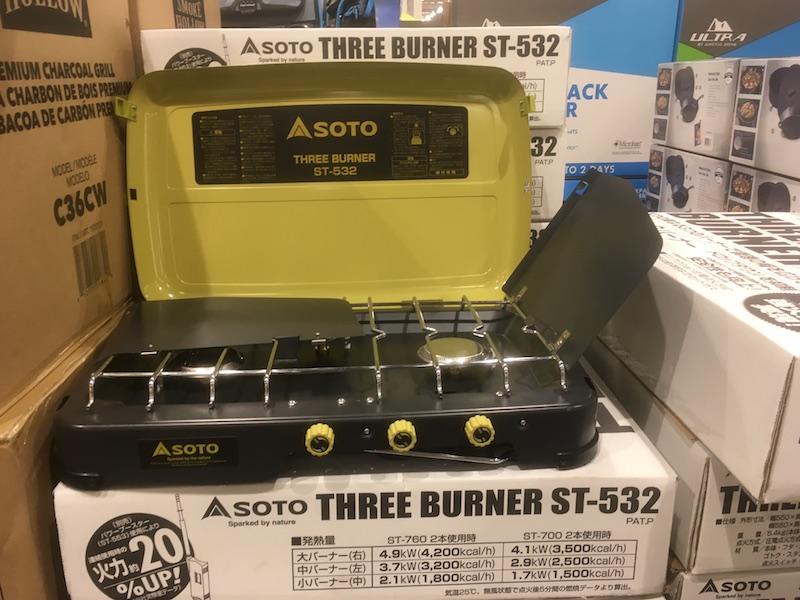 <送料無料>コストコ #593300 シーズン数量限定 SOTO 3バーナーグリル ST-532 カセットガスコンロ バーベキュー BBQ【Z】