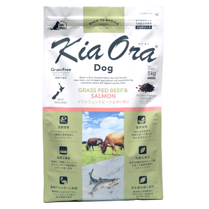 【PET】キアオラ ドッグフード グラスフェッドビーフ&サーモン 5kg【W】:大伸物産 ショップ