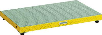 トラスコ中山 【代引不可】【直送】 低床用縞鋼板ステップ 900X600XH90~120 UFS-0960S [A130110]