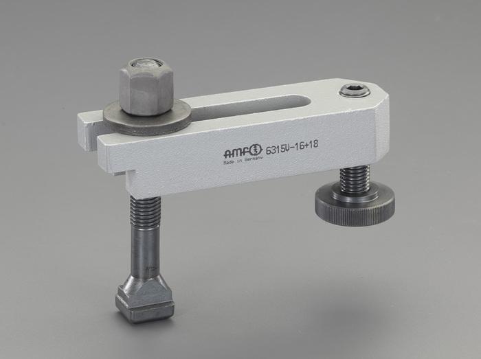 エスコ ESCO 【個人宅不可】 M20/200mm サポートスクリュー付ステップクランプ EA637BG-22 [I230110]
