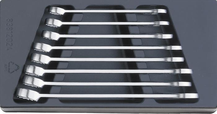 エスコ ESCO 【個人宅不可】 8本組/16 -24mm  片目片口スパナ EA612TK-3 [I010401]