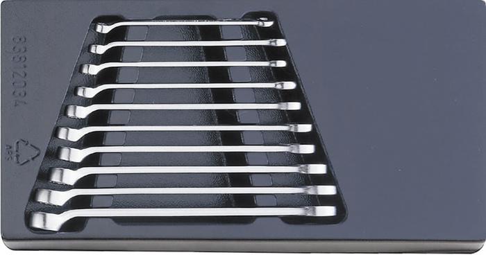 エスコ ESCO 【個人宅不可】 10本組/ 6 -15mm  片目片口スパナ(ロング) EA612TK-4 [I010401]