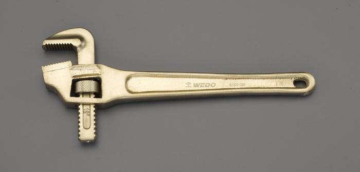 エスコ ESCO 200mm/34mm パイプレンチ(ベント・ノンスパーキング) EA643AE-200 [I040104]