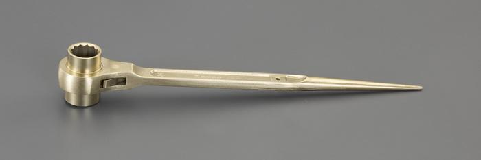 エスコ ESCO 【個人宅不可】 14x17mm 両口ラチェットレンチ(ノンスパーキング) EA643BH-1 [I040128]