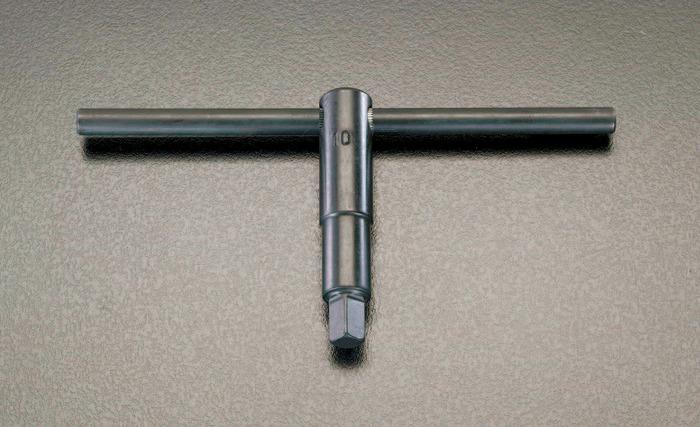 エスコ ESCO 【個人宅不可】 22mm 四角チャックキーT型ハンドル EA613AP-22 [I080801]