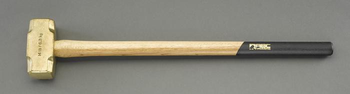 エスコ ESCO 【個人宅不可】 4.5kg/63mm 真鍮大ハンマー(木柄) EA575EN-2 [I040321]