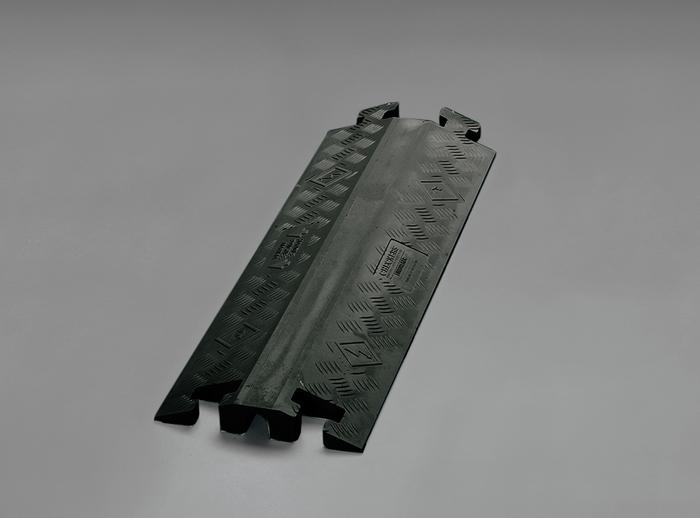 エスコ ESCO 【個人宅不可】 914x362x76mm ケーブルプロテクター(下スリット/黒) EA983PD-6 [I260227]
