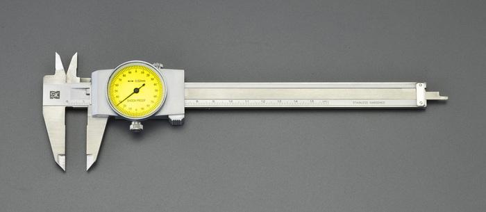 【◆◇5と0の日!3/25限定!最大獲得ポイント19倍!◇◆】エスコ ESCO 200mm ノギス(ダイアル付) EA725C-21 [I110926]