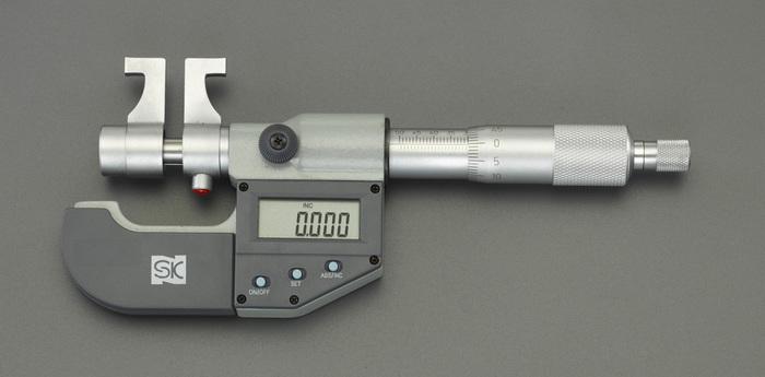エスコ ESCO 【個人宅不可】 75-100mm (デジタル)インサイドマイクロメーター EA725EH-123 [I110926]