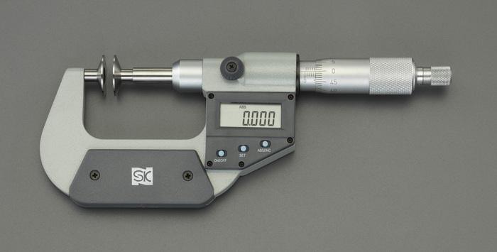 エスコ ESCO 【個人宅不可】 25- 50mm デジタルマイクロメーター(歯厚) EA725EH-76 [I110926]