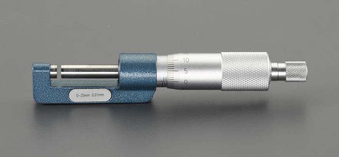 エスコ ESCO 【個人宅不可】 0-25mm ハブマイクロメーター EA725EH-83 [I110926]