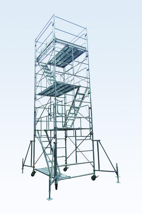 エスコ ESCO 【個人宅不可】 6.58m ローリングタワー(鋼製) EA905DS-14 [I171313]