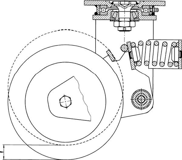 【◆◇エントリーで最大ポイント5倍!◇◆】エスコ ESCO 300mm キャスター(自在金具・スプリング付) EA986KM-300 [I170301]