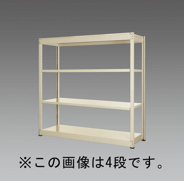 エスコ ESCO 1200x450x1200mm/150kg/3段 スチール棚 EA976DH-120B [I270107]