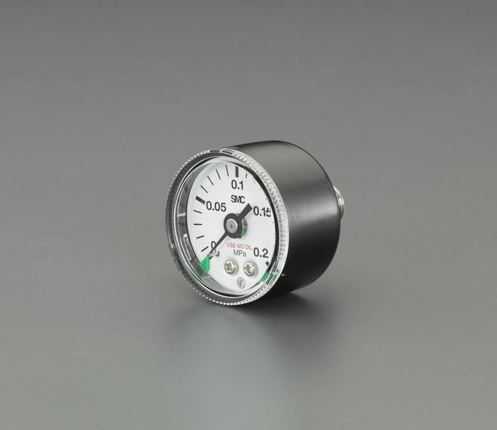 """エスコ ESCO R1/8""""/0-0.2MPa 圧力計(一般ライン用) EA729A-31 [I160610]"""