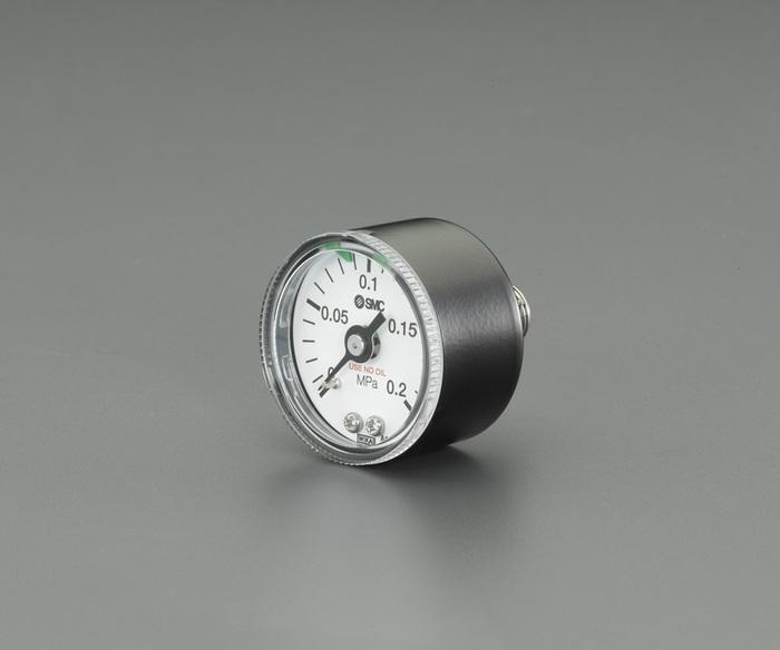 """エスコ ESCO 【個人宅不可】 R1/4""""/0-0.2MPa 圧力計(クリーンルーム用) EA729A-46 [I160610]"""