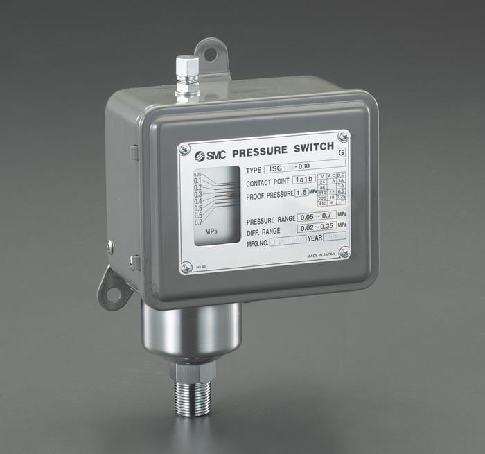 エスコ ESCO 【個人宅不可】 R 3/8/0.02-0.3MPa 圧力スイッチ EA153SH-46 [I160610]