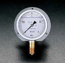 エスコ ESCO G3/8/75mm/0-2.0MPa つば付圧力計(耐震型) EA729GC-20 [I111101]