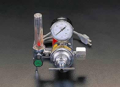 エスコ ESCO 炭酸ガス調整器(溶接ヒーター付) EA316EB [I030111]
