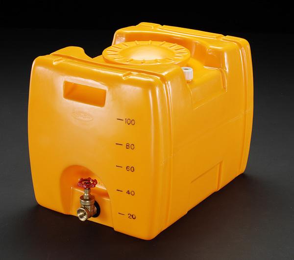 【◆◇スーパーセール!ポイント2倍!◇◆】エスコ ESCO 100L ポリエチレン給水容器(バルブ付) EA991AB-1 [I270302]