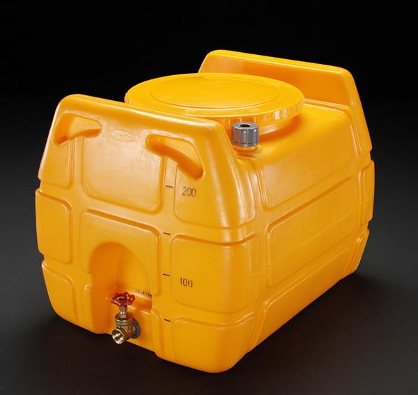 エスコ ESCO 200L ポリエチレン給水容器(バルブ付) EA991AB-2 [I270302]
