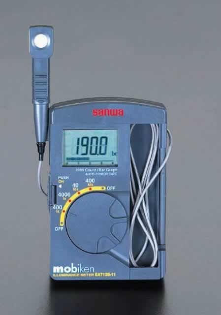 エスコ ESCO ポケット型 デジタル照度計 EA712B-11 [I110303]