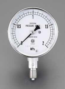 エスコ ESCO G 1/4/ 60mm/0-1.0MPa 圧力計(ステンレス製) EA729DJ-10 [I111101]