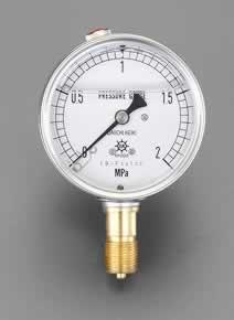 エスコ ESCO 75mm/ 0-10MPa 圧力計(グリセリン入) EA729GE-100 [I111101]