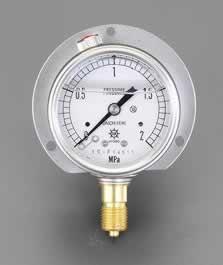 エスコ ESCO 100mm/0-2.0MPa つば付圧力計(グリセリン入) EA729GJ-20 [I111101]
