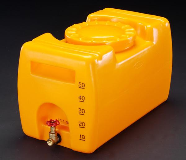エスコ ESCO 50L ポリエチレン給水容器(バルブ付) EA991AB-0.5 [I270302]