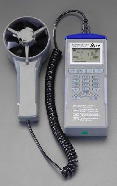 エスコ ESCO デジタル温度・湿度・風速計 EA743AD-2 [I110405]