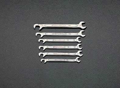 【◆◇エントリーで最大ポイント5倍!◇◆】エスコ ESCO 4.5-8.0mm 6本組 薄口スパナ EA615A [I080106]