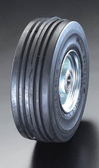 エスコ ESCO 250x 85mm 車輪(エラスティックタイヤ・スチールリム・ベアリング EA986MM-250 [I170302]