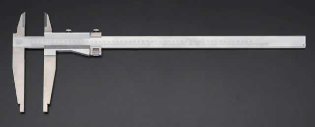 エスコ ESCO 1000x150mm ノギス(微調整付) EA725BE-37 [I110915]